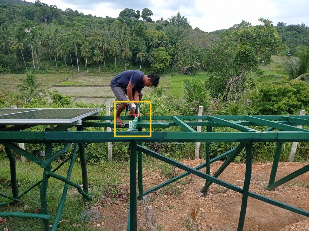 Ground-Mounted Solar panel contruction