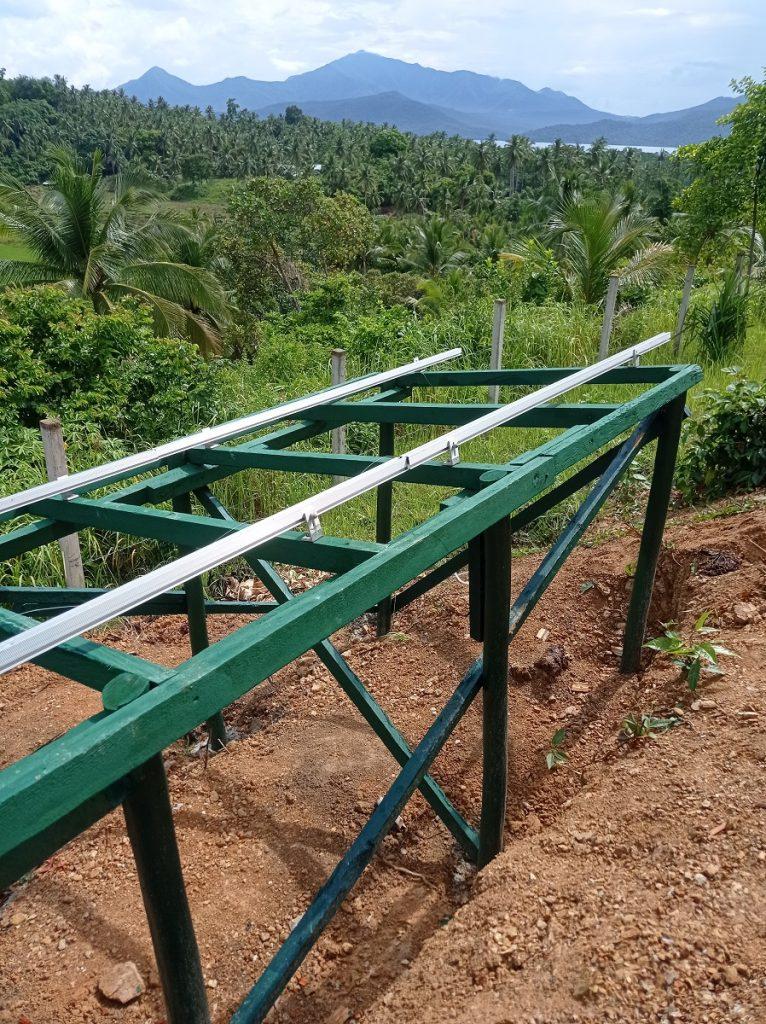 Ground-Mounted Solar panel framing