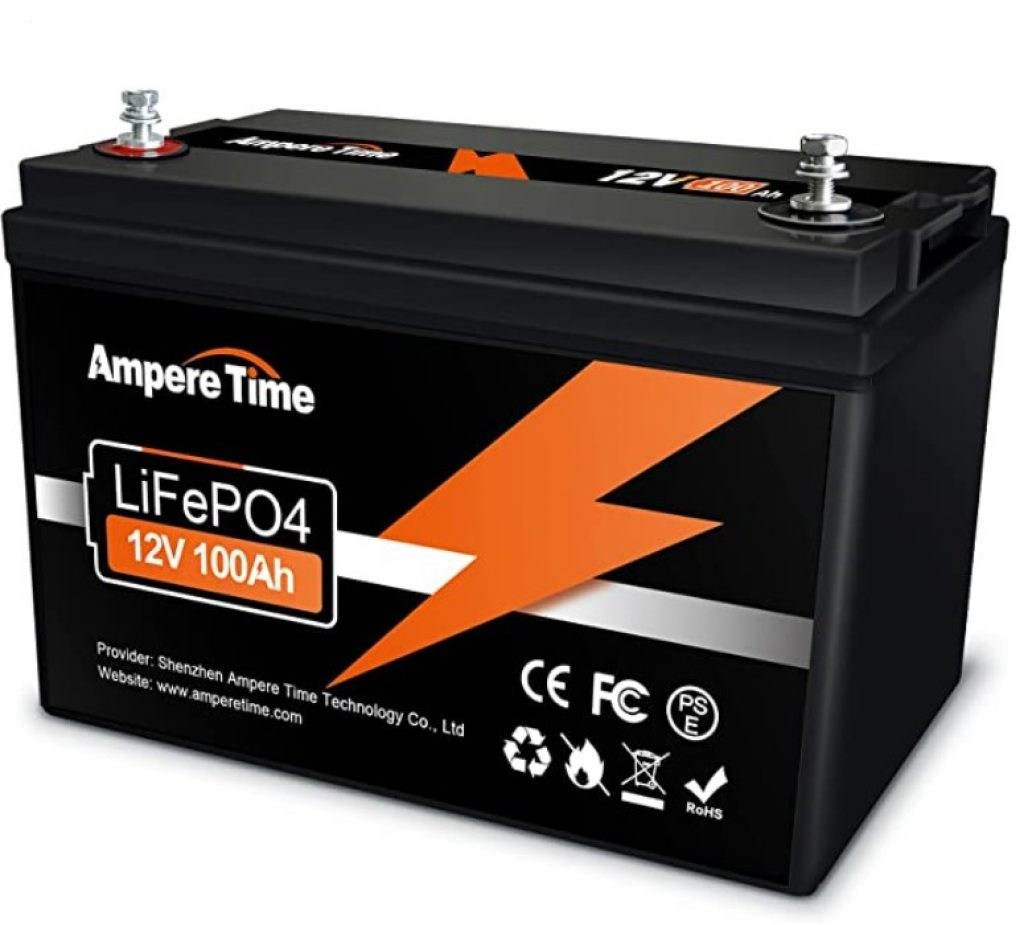 Ampere Time LiFePO4 12V 100Ah Battery