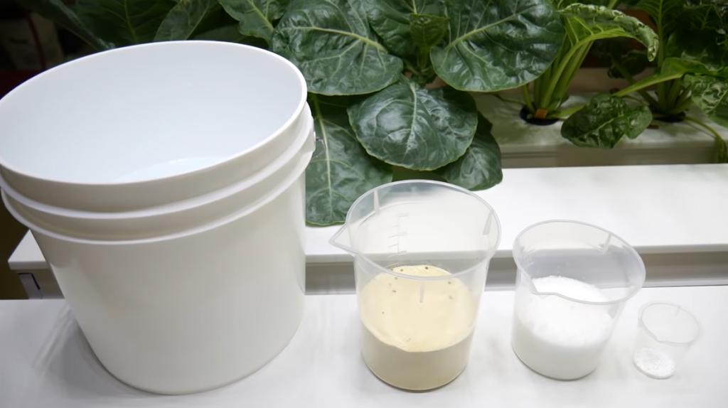 DIY hydroponic nutrients for a formula.