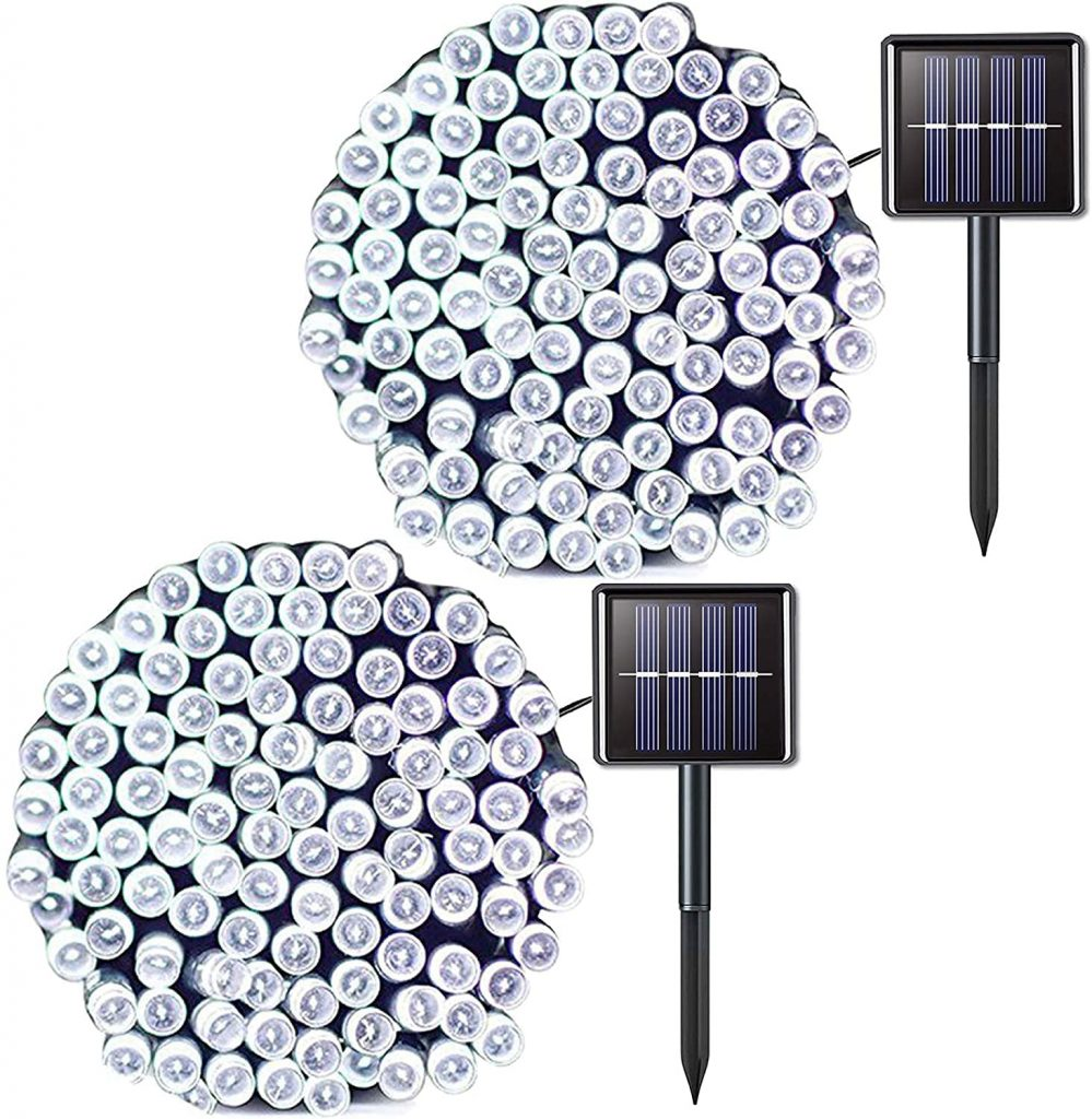JMEXSUSS's white LED lights with their solar panels.