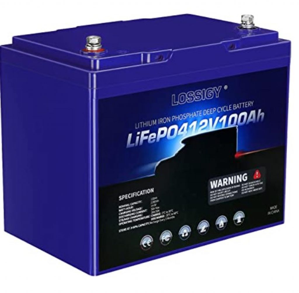 Lossigy Lithium Iron Phosphate 100 Ah Deep Cycle Battery