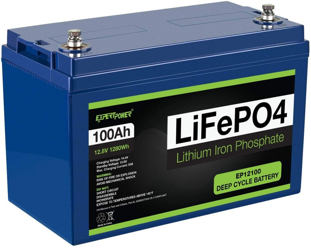 A LiFePO4 battery used for solar panels.