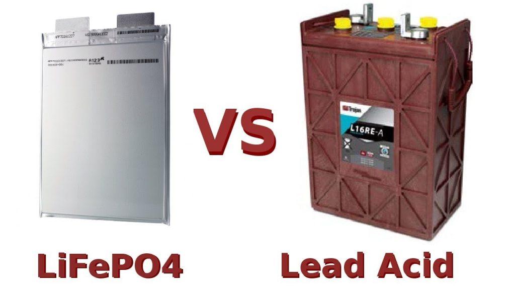 Lithium-ion vs lead-acid battery