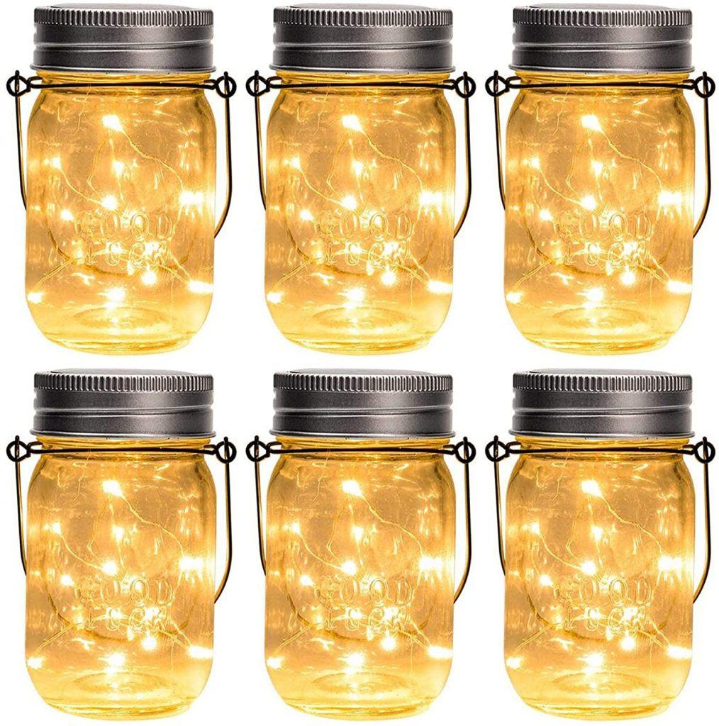 GIGALUMI's solar lights in a mason jar.