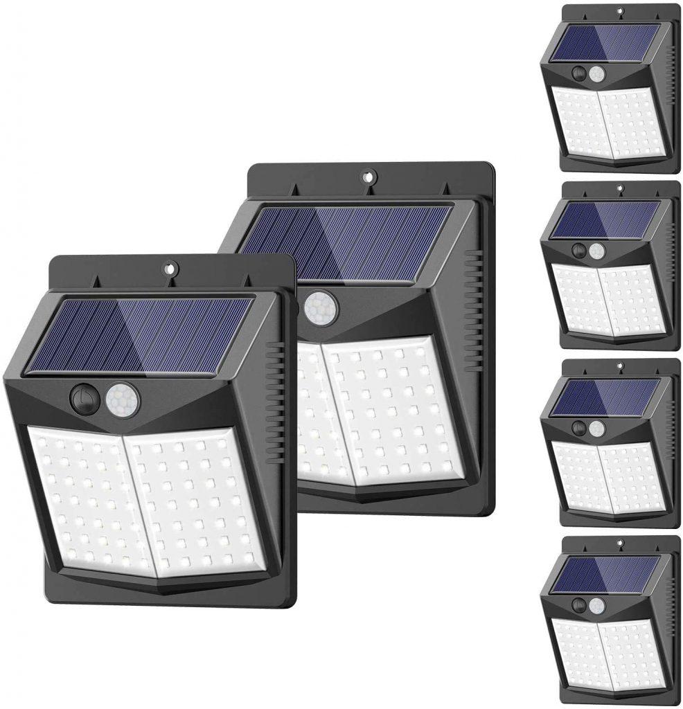 A set of Sezac solar deck lights